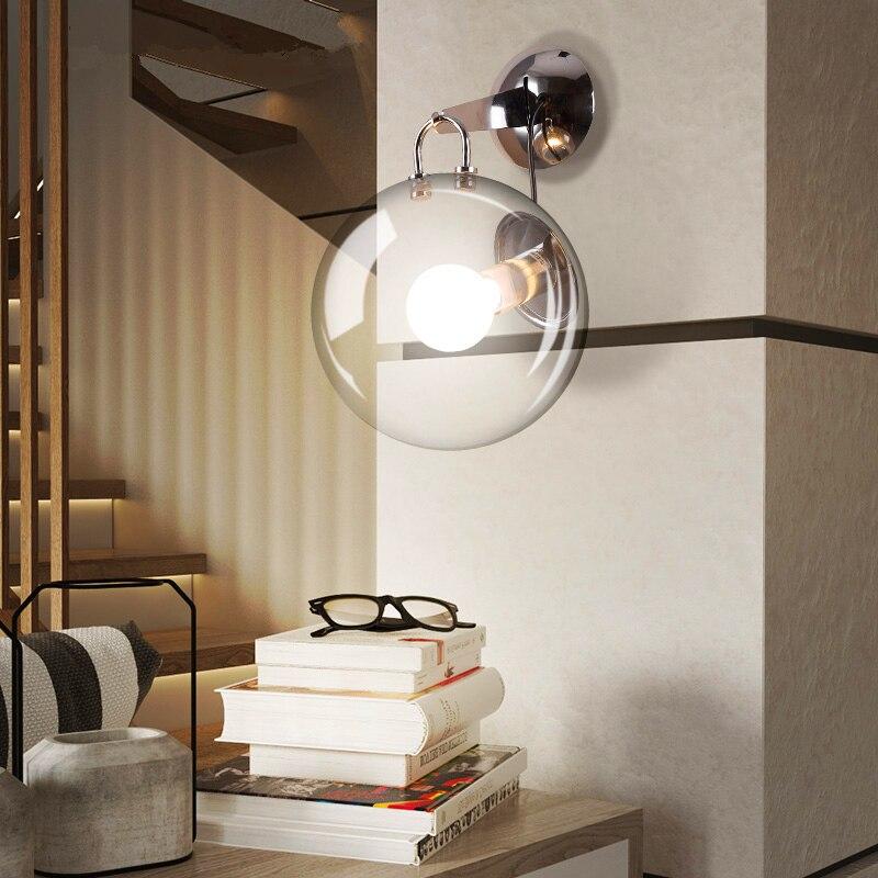 Led Lamps Led Living Room Sconces Nordic Lighting Bedroom Wall Light Glass Ball Fixtures Modern Home Illumination Corridor Aisle Wall Lamp Modern Techniques Lights & Lighting