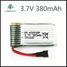 Batterie Lipo 3.7 V 380 mAh pour Hubsan h107d MJXRC F47 Difeida DFD F180 FY310B m62R 3.7 V 380 mah, prise 1S XH 602035