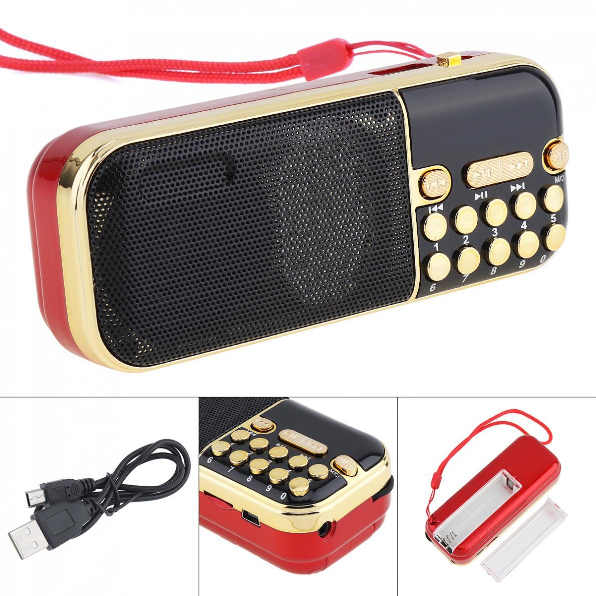 Selbstlos E57 Tragbare Radio Mini Audio Karte Lautsprecher Fm Radio Mit 3,5mm Kopfhörer Jack Für Hause Im Freien Radio