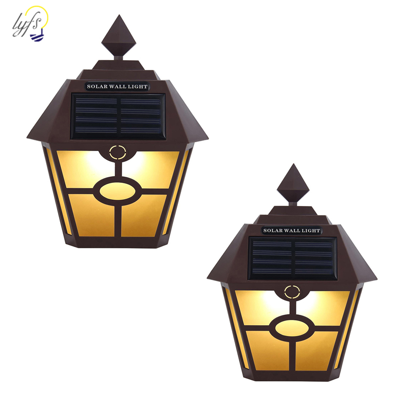 Retro Solar Light Outdoor Landscape Light Waterproof Solar Wall Lamp Garden Courtyard Holiday Party Decoration