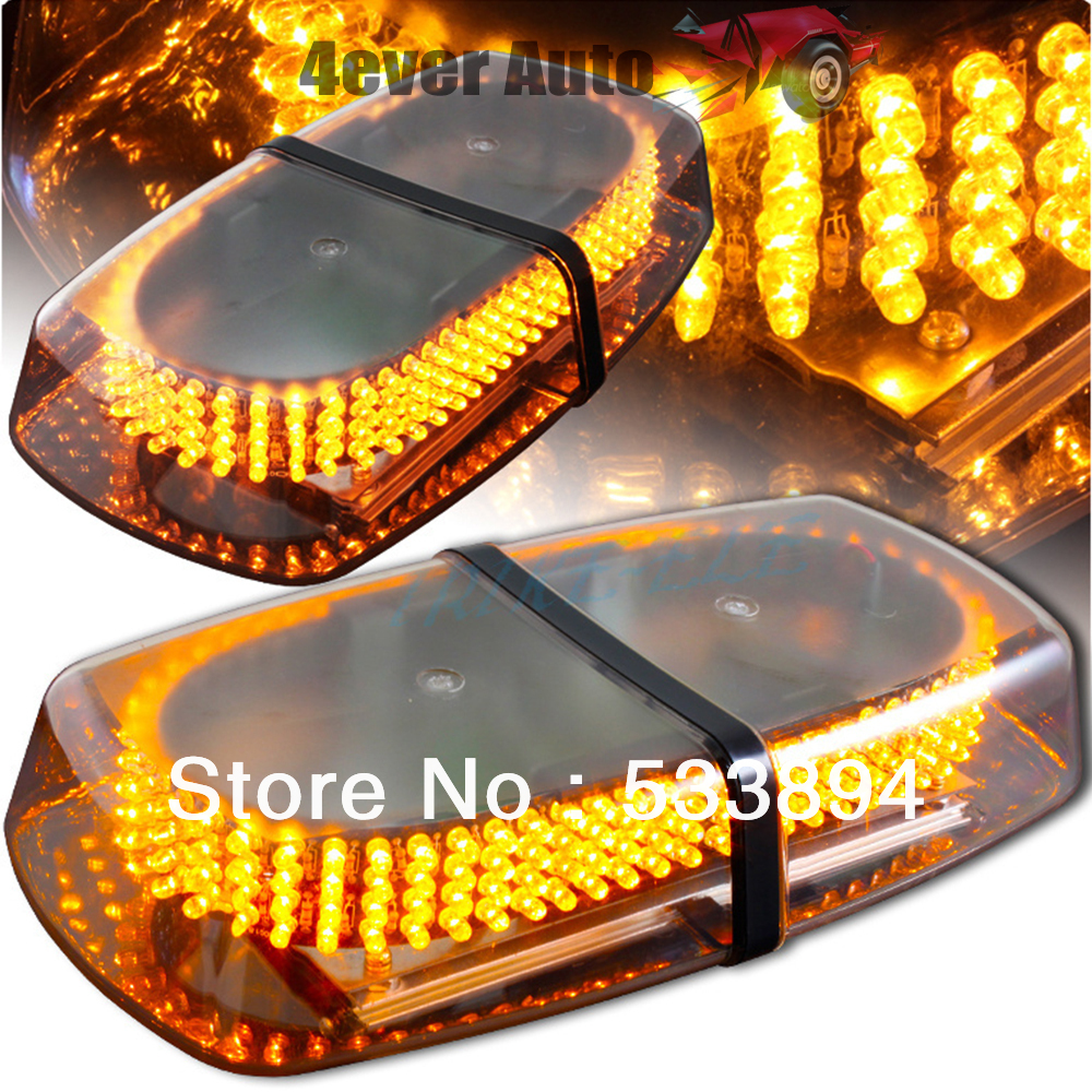 ФОТО DHL Free Shipping 240 LED Car Roof Flash Strobe Magnets 8 Modes Emergency Warning Police Light Shell All Yellow Amber Light