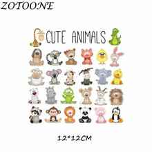 ZOTOONE DIY Iron on Transfer for Baby Kid Clothes Dress T-shirt Thermo Stickers Animal Tiger Tactical Patches Clothing E