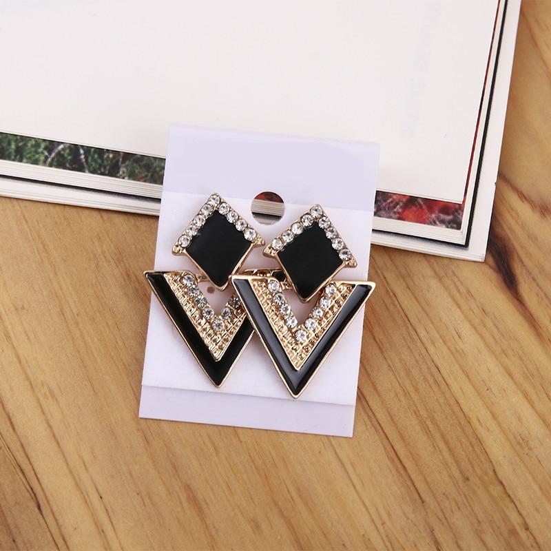 Stud Earrings  Stud Earrings: Effie Queen Newest Style Micro Paved AAA Zircon Earrings For Women's Birthday Gift Luxury Woman Earrings DE100