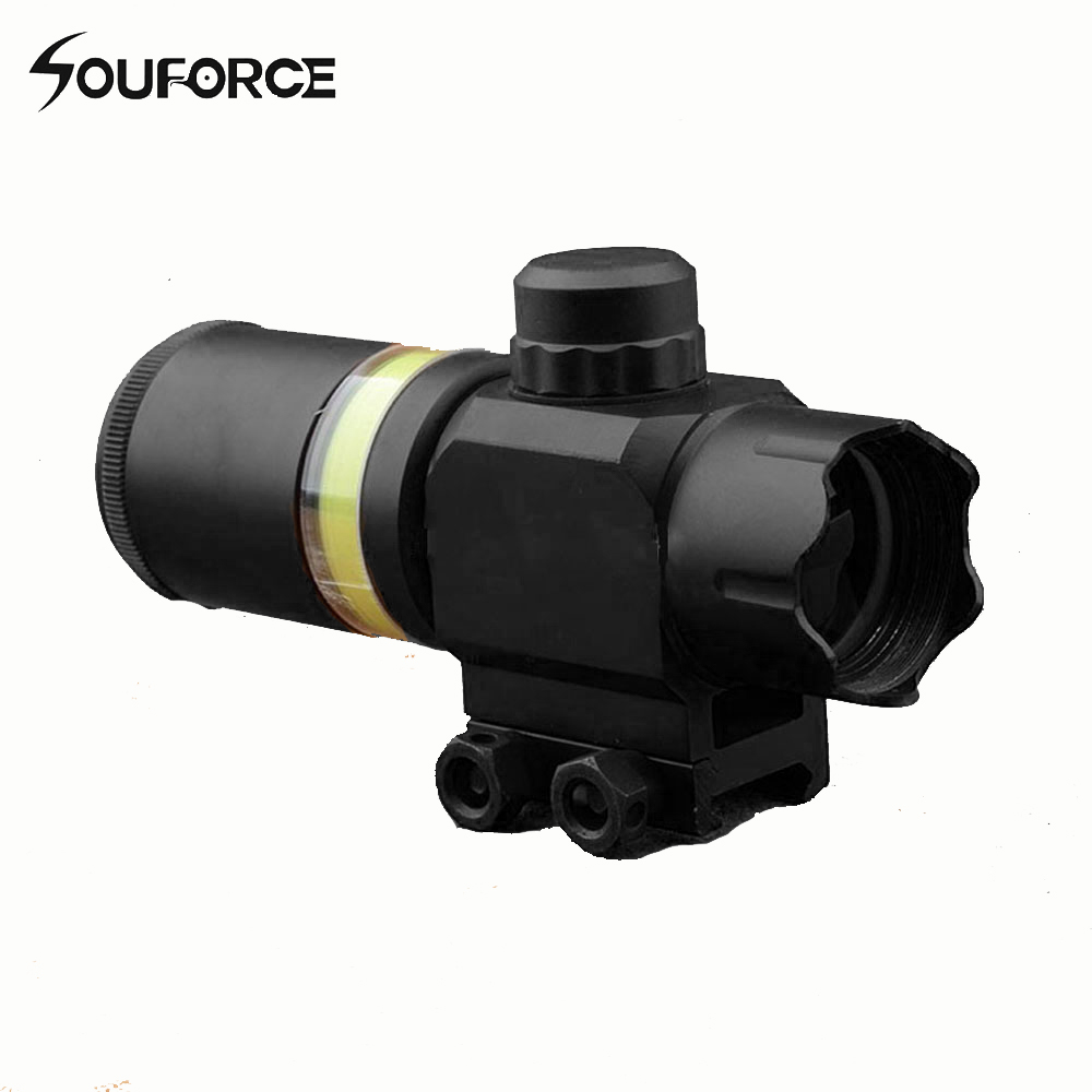 Tactical Rifle Scope 2x28 Green Optical Fiber Dot Sight Riflescope Hunting Shooting for 20mm Weaver Picatinny Rail Mount 1 5 4 28 rifle scope rifle scope shooting hunting pp1 0165