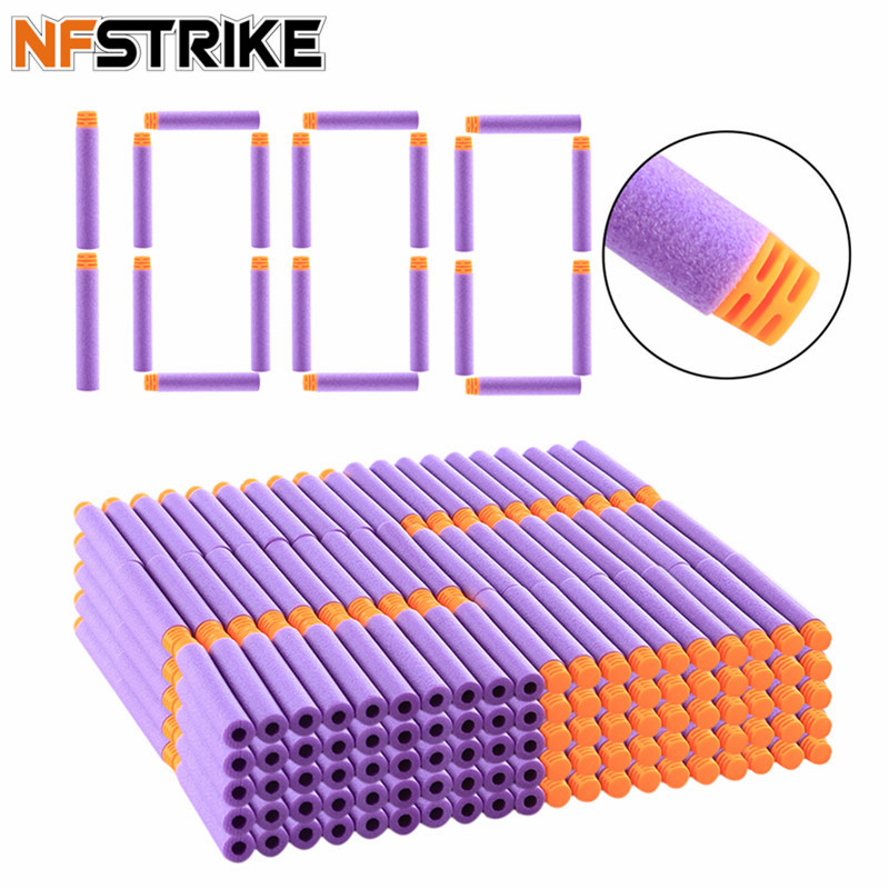 1000Pcs 7.2cm Universal High Buffered Soft Bullet Darts Flat Head Soft Toy Gun Darts For Nerf Elite Series Blasters