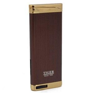 Image 1 - Hot Compact Jet Cigar Pipe Lighter Butane Lighter Torch Turbo Gas Cigarette 1300 C Fire Windproof Lighter NO Gas