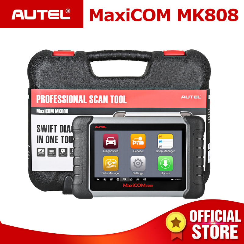 Autel MaxiCOM MK808 OBD2 Car Diagnostic Tool OBD 2 Automotive Scanner IMMO EPB SAS BMS TPMS DPF Service PK MD802 MaxiCheck Pro-in Engine Analyzer from Automobiles & Motorcycles