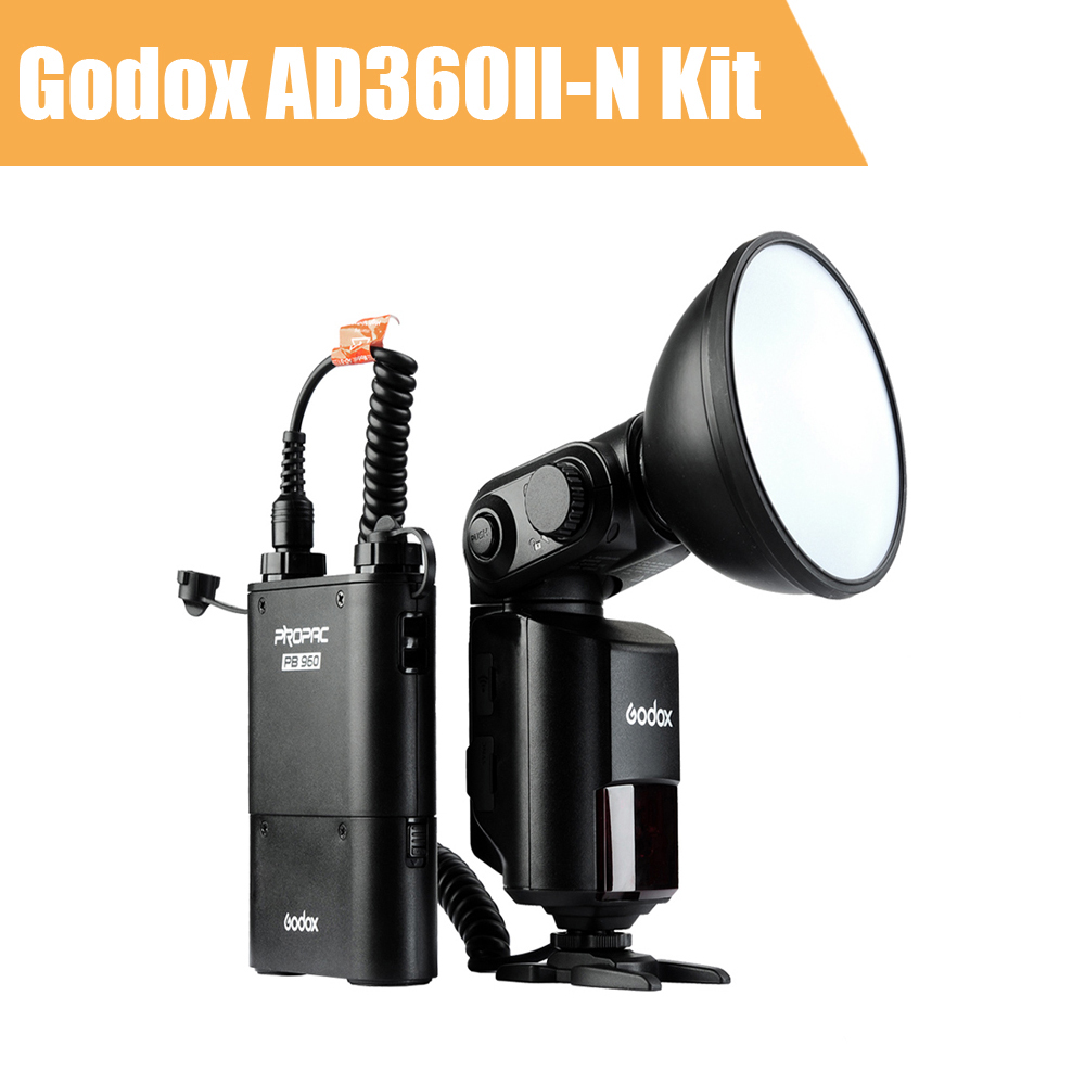 Godox Witstro AD360 AD360II-N TTL Camera Flash Speedlite for Nikon DSLR 360Ws 2.4G i-TTL 1/8000S + PB960 Battery Pack