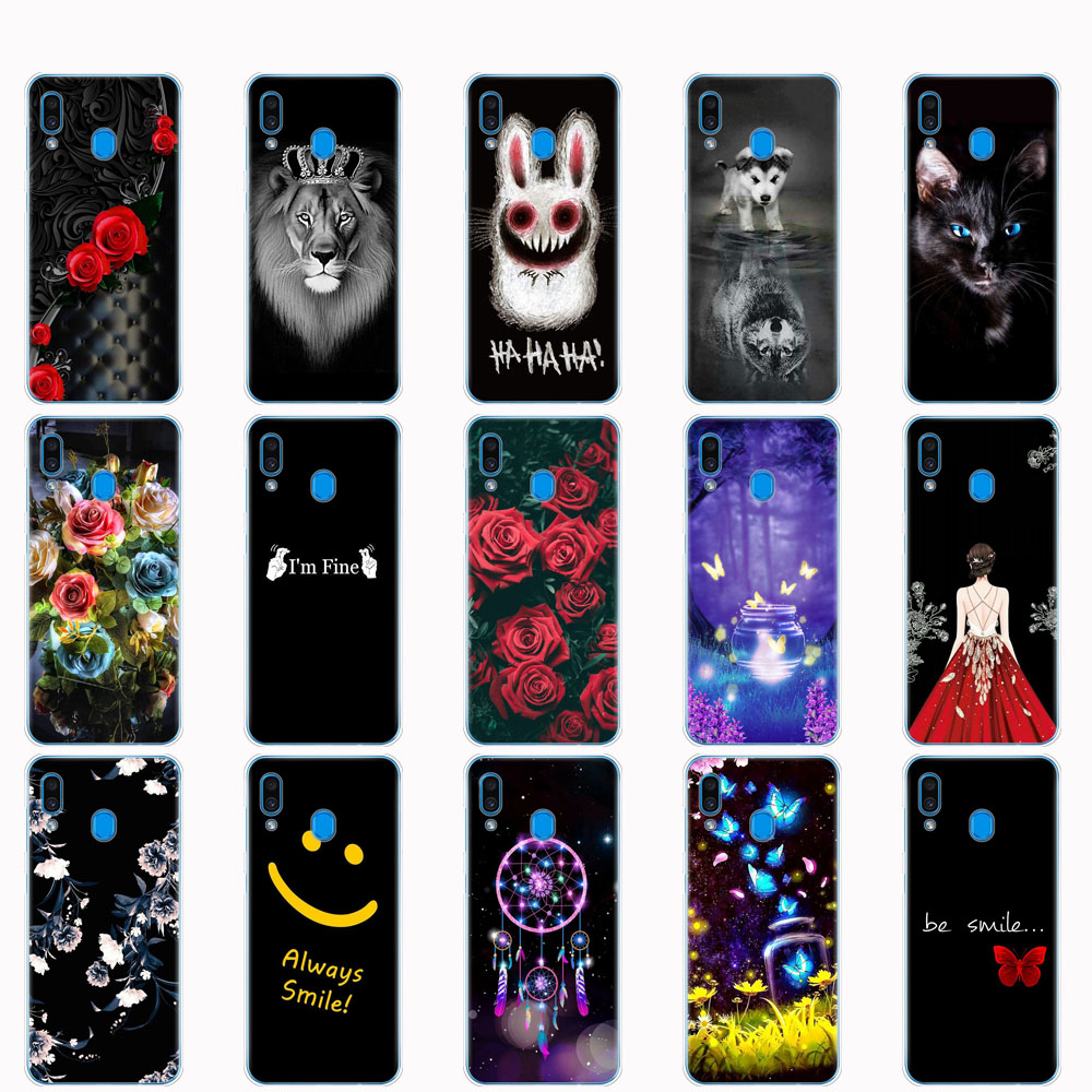 Case For <font><b>Samsung</b></font> <font><b>Galaxy</b></font> <font><b>A20</b></font> A20E case Silicone soft cover For <font><b>Samsung</b></font> <font><b>A20</b></font> A 20 2019 A205F A20E A202F Fundas bumper shockproof image