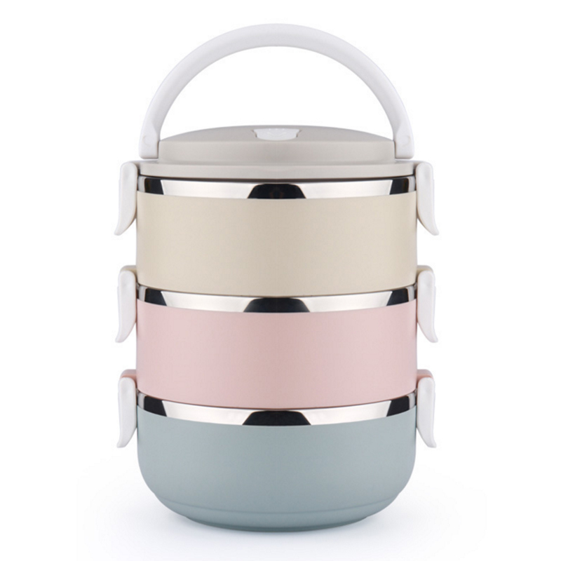 3 layers Container For Food Storage Thermal Lunch Boxs Stainless Steel Japanese Bento Box Portable Picnic With Tableware Set Bag
