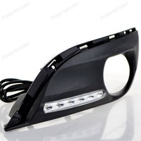 NEWEST auto front fog lamp Daytiime running lights Car stylng for P/eugeot 308 2011-2015