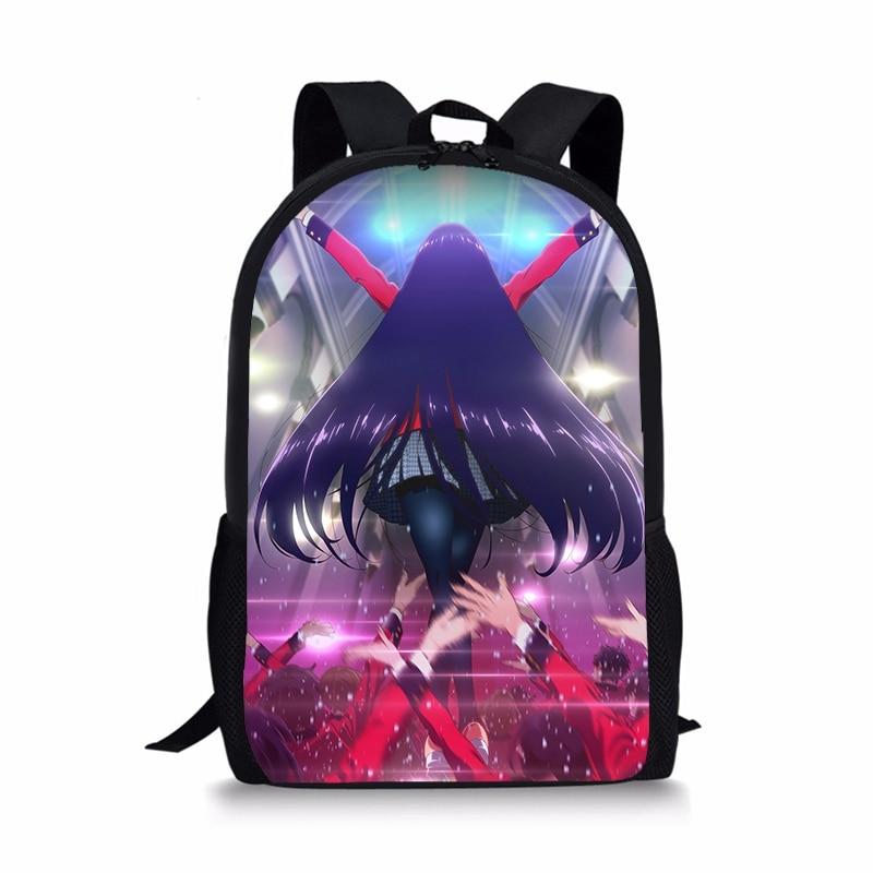 e789ef8c0806 Япония Аниме Kakegurui Рюкзак Плечо школьная сумка Jabami Yumeko Saotome  Мэри рюкзак подростковые; школьные девушки