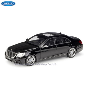 цена на WELLY 1:24 Mercedes Benz Mercedes-Benz S-Class simulation alloy car model crafts decoration collection toy tools gift