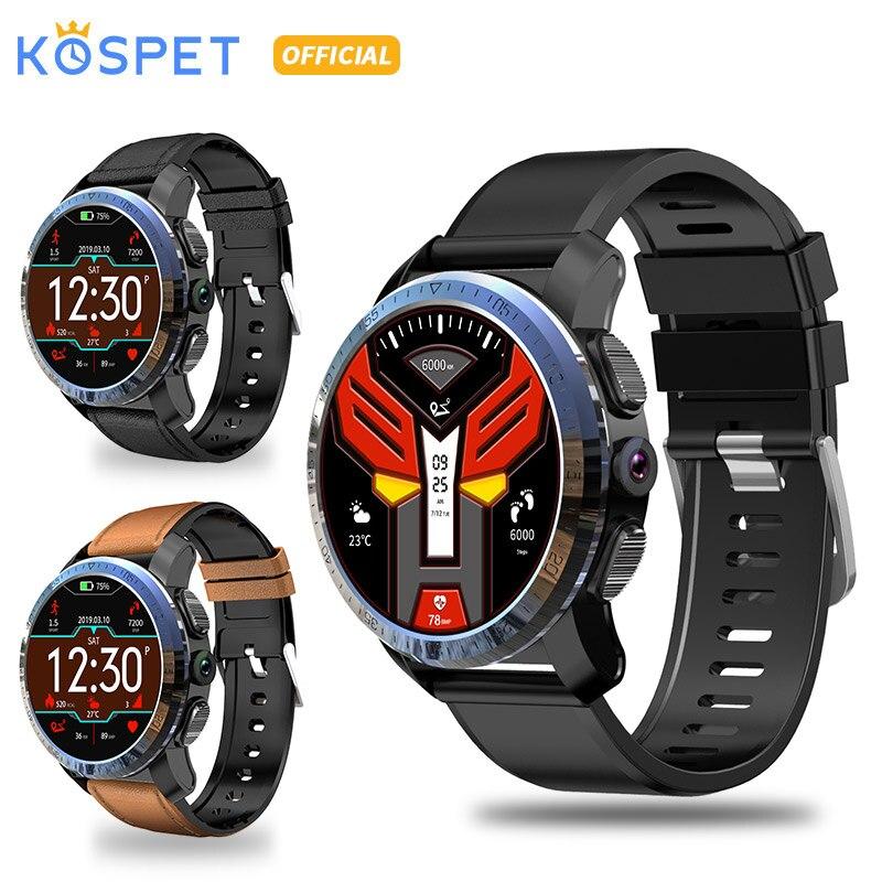 KOSPET Optimus Pro 3GB 32GB 800mAh Bluetooth Dual 4G SmartWatch Phone waterproof 8.0MP 1.39 men smart watch for Android IOS
