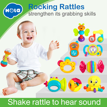 Купить с кэшбэком 6pcs/Lot cartoon animal baby rattles/baby toys 0-1year old newborn toy baby hand rattles