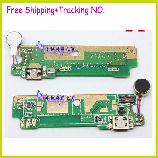 Para ZOPO ZP998 telefone placa de carga USB USB telefone celular microfone cabos Flex com vibrador motor
