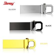 Novo estilo de mini Flash Drive USB chave de metal Sliver pen drive GB GB 8 64 4 GB GB 32 16 GB de memória de 128 GB cartão de memória flash da vara pendrive