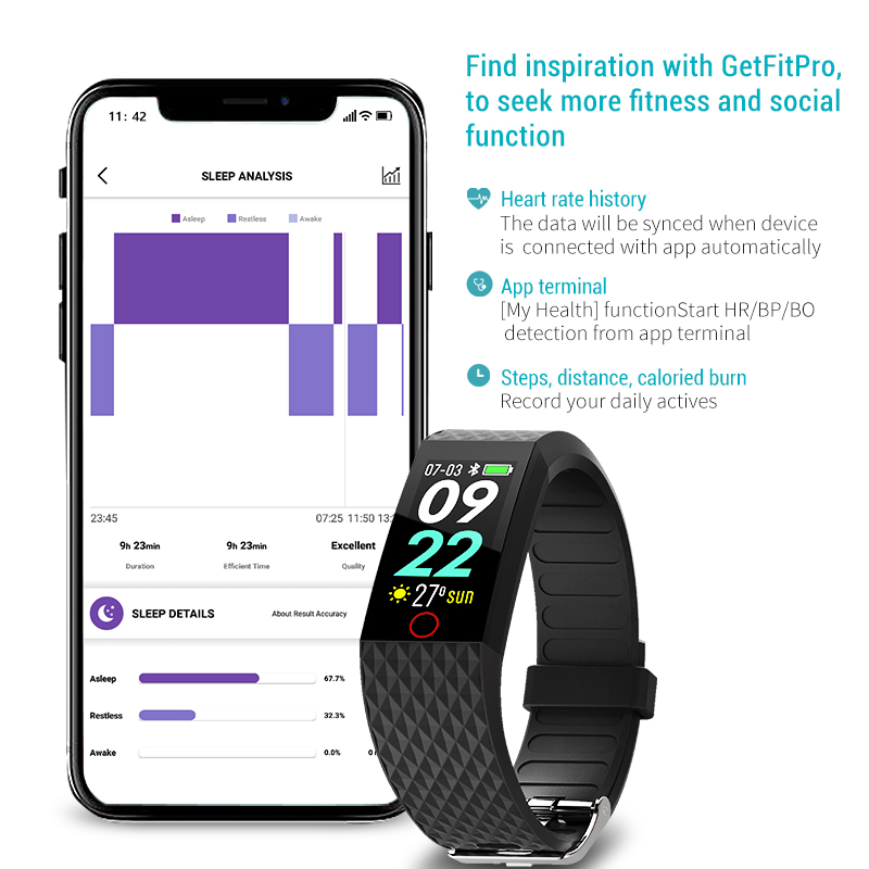 Image 5 - Smart Wristband Fitness Tracker Sport Pedometer Waterproof Heart Rate Blood Pressure Smart Bracelet fashion for man woman Hot-in Smart Wristbands from Consumer Electronics
