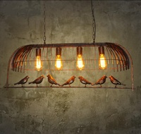 Retro industry personality retro bird pendant lights A1 Cafe Bar Iron one industrial wind decorative pendant lamp GY188