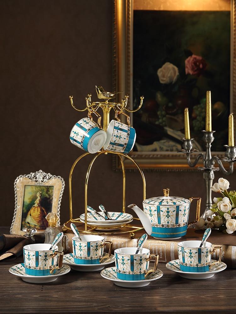 Ensemble de tasses et sous-tasses à café en porcelaine | Service de luxe Royal, service de thé en porcelaine fait à la main