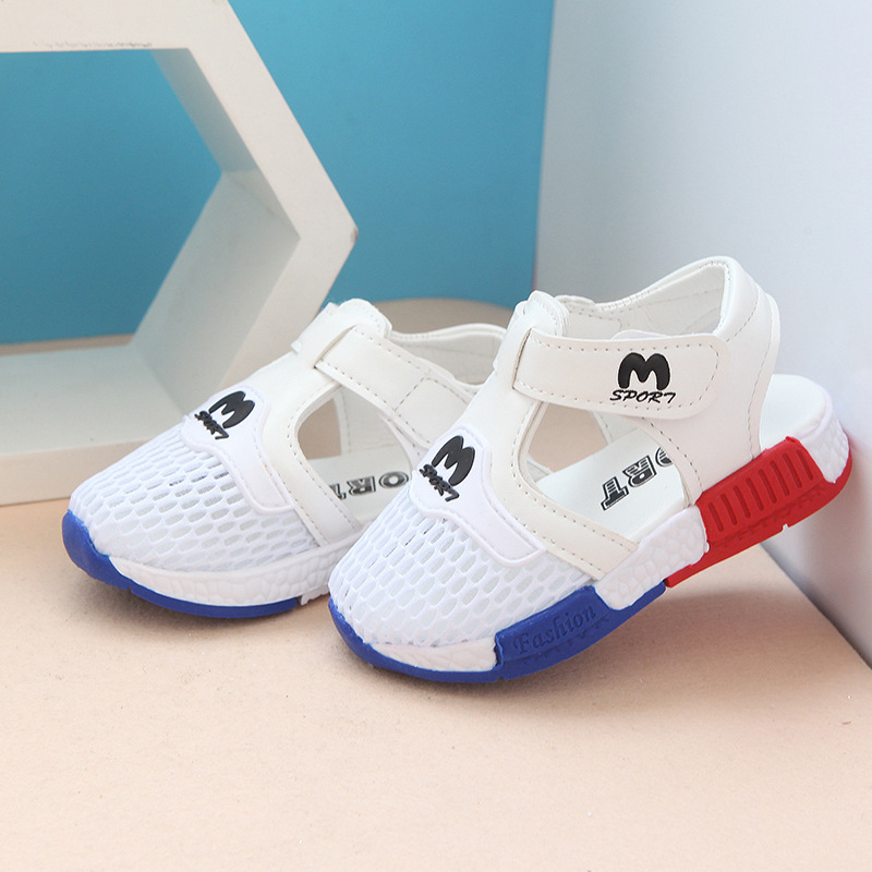 Hot SALE Baby Shoes 2020 Summer New Fashion Net Breathable Baby Boys Girls Sandals Toddler Kids Casual Sport Shoes White Pink