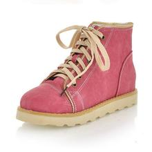 Coolcept Envío Libre del tobillo botas de las mujeres de moda corto de nieve zapatos de cuña calzado de invierno sexy medio cálido P8419 arranque EUR size34-43