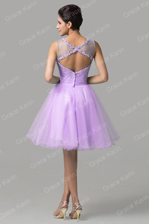 Robe De Soiree Courte Grace Karin Tulle Vestido Baile ...