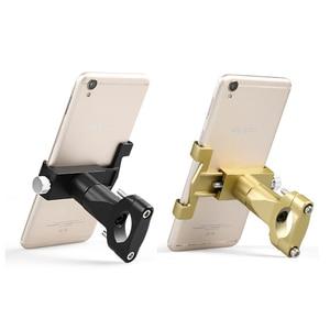 Image 3 - Evrensel Alüminyum Alaşım Motosiklet Telefon tutucu destek Telefon dikiz aynası Moto telefon tutucu GPS Bisiklet Gidon Tutucu