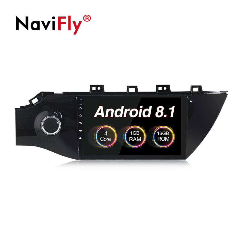 "NaviFly New! 9"" 1024*600 Android 8.1 Car GPS Navigation for KIA RIO K2 2017 KIA K2 Car radio audio multimedia player BT WIFI"