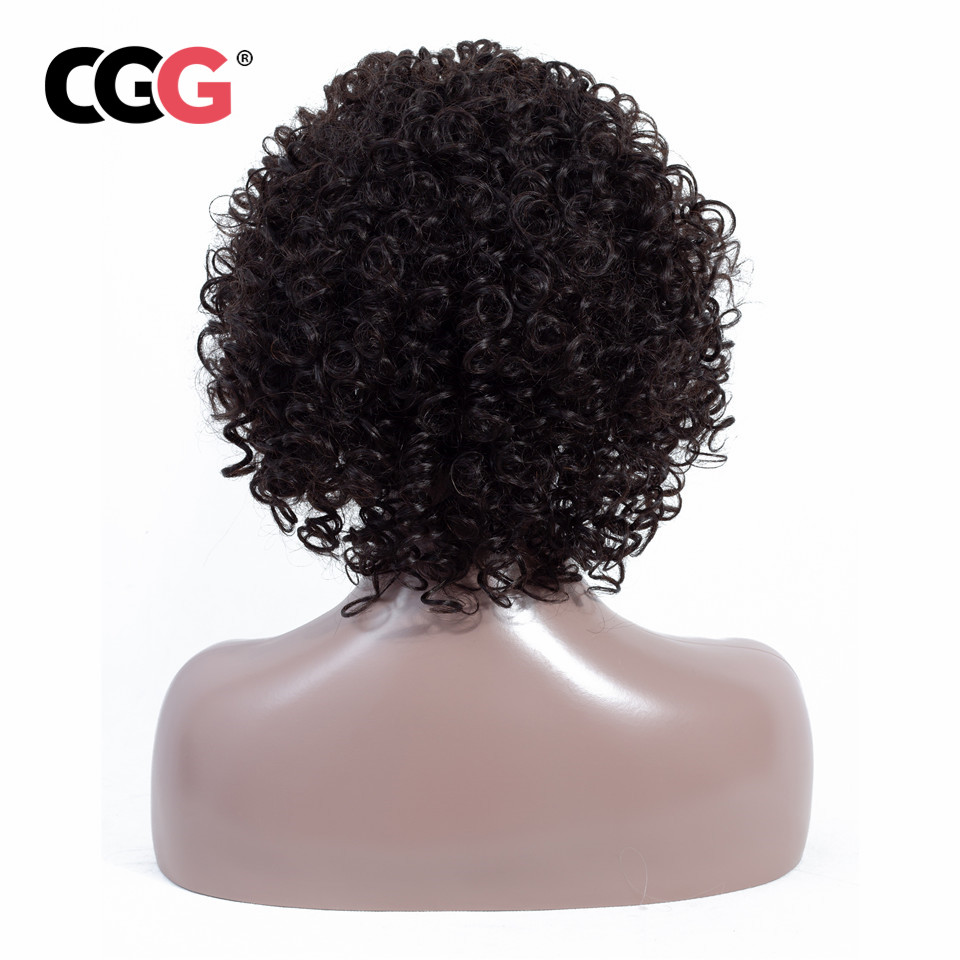 CGG Short Wig Brazilian Lace Frontal Wigs 100 Human Hair Wigs Non Remy Hair Extensions Machine