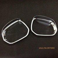 2013 2014 2015 For Peugeot 3008 3008GT Rear View Side Door Mirror Cover Sun Rain Guard Frame Trim ABS Chrome 2pcs