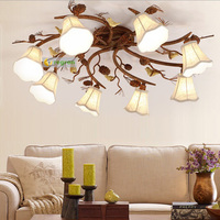 Living Bedroom surface light Family Warm And Romantic Restaurant led Lamps Ceiling lights America vintage hanging pine cone Lamp