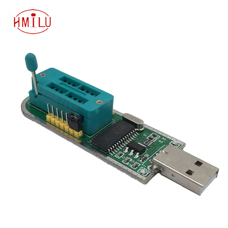 CH341 CH341A USB programmer SOP16 DIP16 SOP8 DIP8 IC socket programer IC socket support many 24/25XX SPI flash EEPROM chip soic8 sop8 dip8 flash chip ic test clips socket adpter bios 24 25 93 programmer