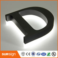 LED backlit metal letter lights backlit led sign