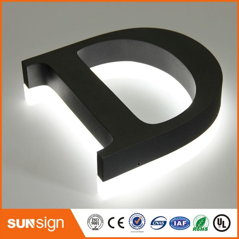 LED backlit metal letter lights backlit led sign