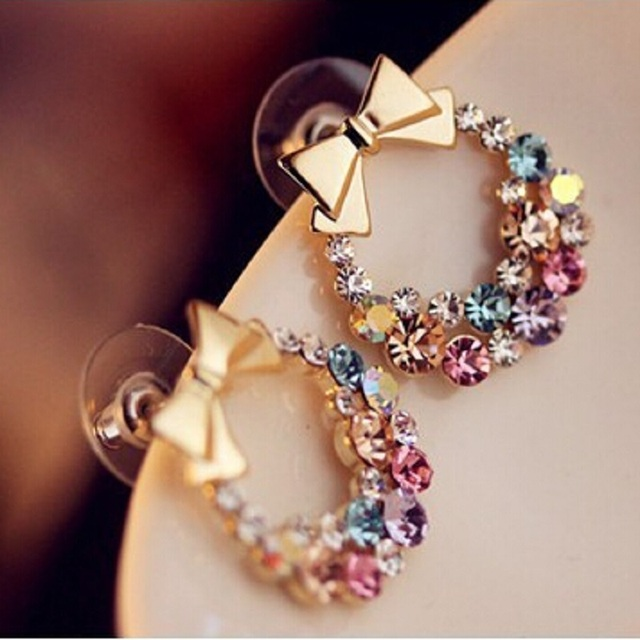 2016 New Fashion Designer Jewelry Colorful Rhinestone Imitation