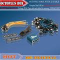 Octoplus, fuction/octoplus caja para lg + para samsung con medua jtag + para sí fuction 4 en 1 (paquete con 25 unids cable)