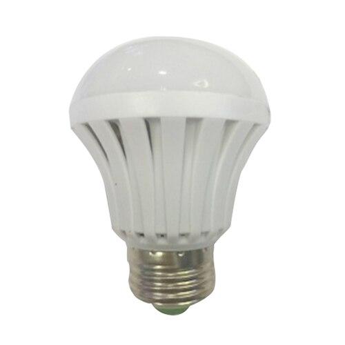 High Voltage 1 E27 2835 SMD Plastic LED Intelligent Emergency Light Bulb White Light 85V-265V (Packaging:1 E27 hook cover)
