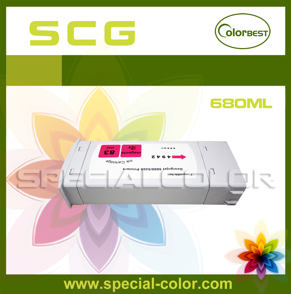 ФОТО Color M 680ml Latex Pigment Ink Cartridge with Chip for Designjet 5000 Printer