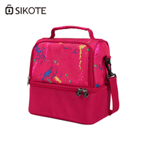 SIKOTE Portable Lunch Box Dinner Picnic Bags Insulation Fold Cooler Bag Chair Thermo Office Work Breast