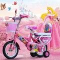 Bicicletas das crianças meninas 2/5/8/12/18/16 polegada carrinho de bebê andador para crianças bicicleta