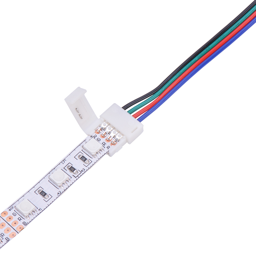 10pcs 2/4/5 Pin LED Strip Connector for 8mm 10mm 12mm 3528 5050 5630 RGB RGBW IP20 Non-waterproof LED Tape Light to Wire Joint new 5pcs 2pin 3pin 4pin led connector l t x shape fpc adapter free welding for 8mm 10mm 3528 2812 5050 rgb light strip