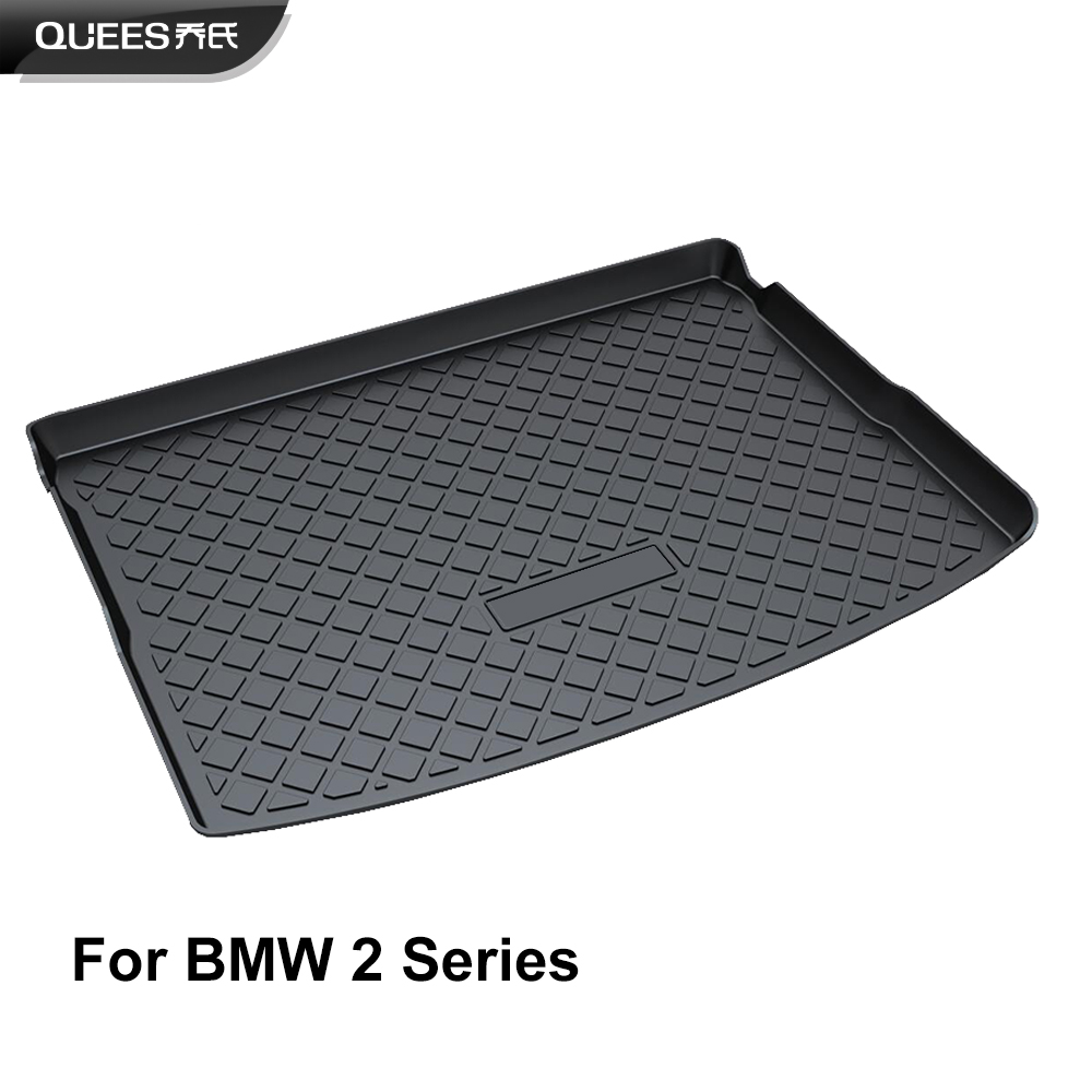 QUEES Custom Fit Cargo Liner Boot Tray Trunk Floor Mat for BMW 2 Series Active Tourer