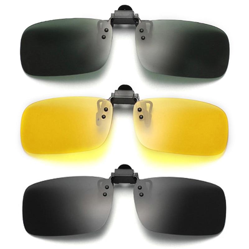 DRIVING GLASSES /& Clip-On Night Vision Driver Safety *NO Glare or DAZZLE Sun