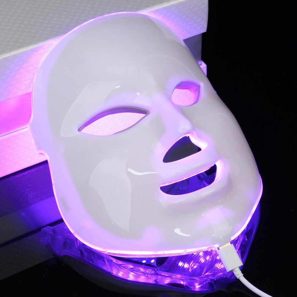 7 Color Light Photon PDT LED Electric Face Massage Facial Mask Skin Care Rejuvenation Therapy Anti-aging Promote Skin care EU цены онлайн