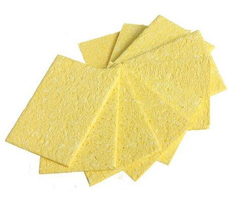 SZBFT Free Shipping High Temperature Enduring Condense Electric Welding Soldering Iron Cleaning Sponge YellowHot New Arrival