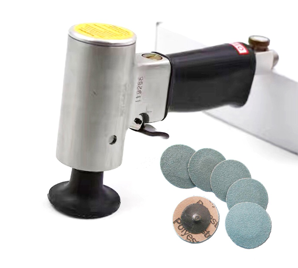 Industrial Grade Mini 2 inch Air Disc Sander Pneumatic Orbital Sander 50mm Polishing Grinder 6 Units Disc Set 4 inch disc type pneumatic polishing machine 100mm pneumatic sander sand machine bd 0145