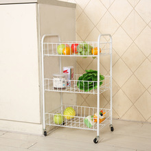 New Creative Home Three-storey Trolley Folding Mobile Clutte