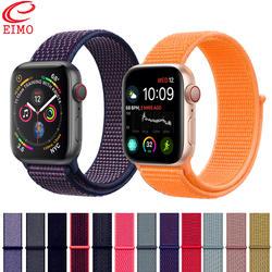 EIMO Спортивная петля для Apple Watch band 4 iwatch band 42 мм 38 мм 44 мм 40 мм ремешок мягкий дышащий нейлоновый браслет аксессуары для часов