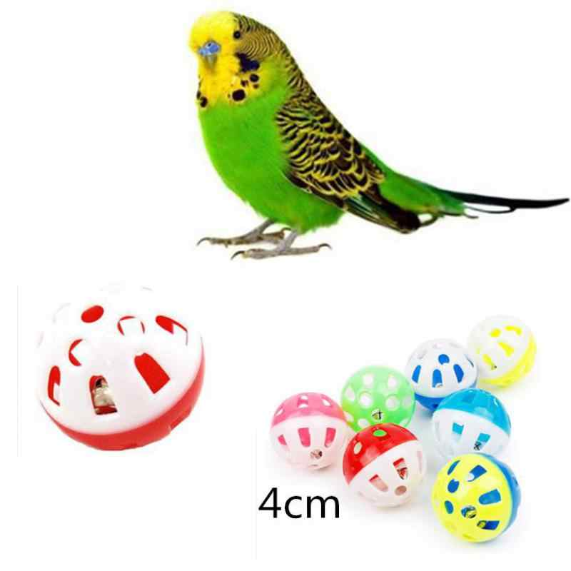 Pet Parrot Toy Bird Hollow Bell Ball สำหรับ Parakeet Cockatiel Chew ของเล่น Cage สนุก 23
